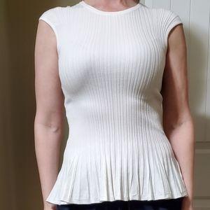 RW&Co cream peplum sweater